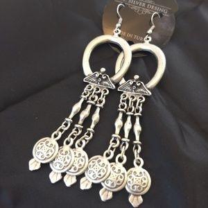 Beautiful bohemian Turkish belly dancing earrings